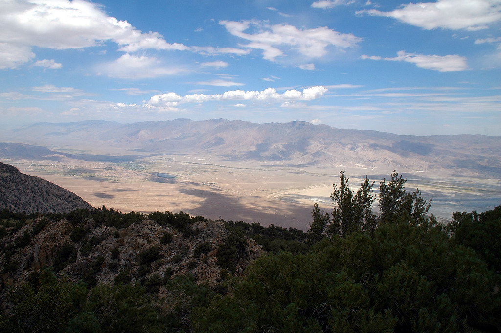 The Inyo Mountains to the east across the Owens Valley.