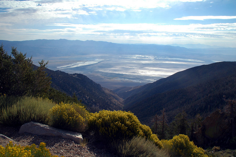 View down Slide Canyon to Owens Lake.