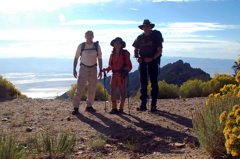 Joe(me), Cori and Tom at the start of the hike at about 9,200 feet. We will be loosing altitude on the hike to the peak which is at about 8,650 feet.
