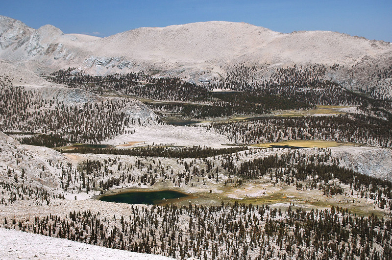 South Fork Lakes to the north.
