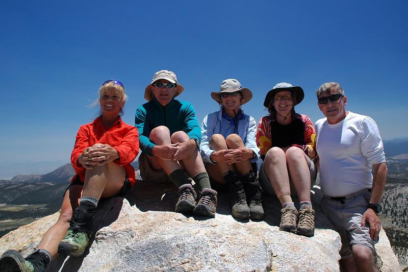 Group shot on Trailmaster Peak at 12,336 feet.