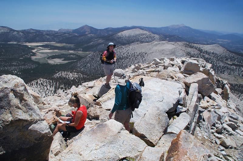 On the peak.