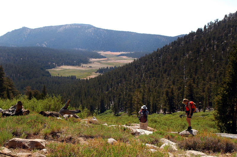 Looking back on Horeshoe Meadow.