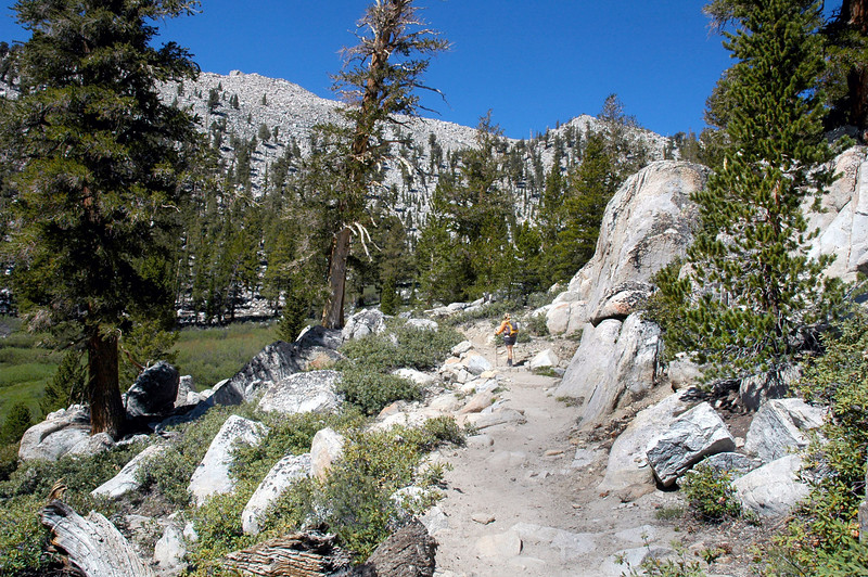 The start of the switchbacks leading to the pass.