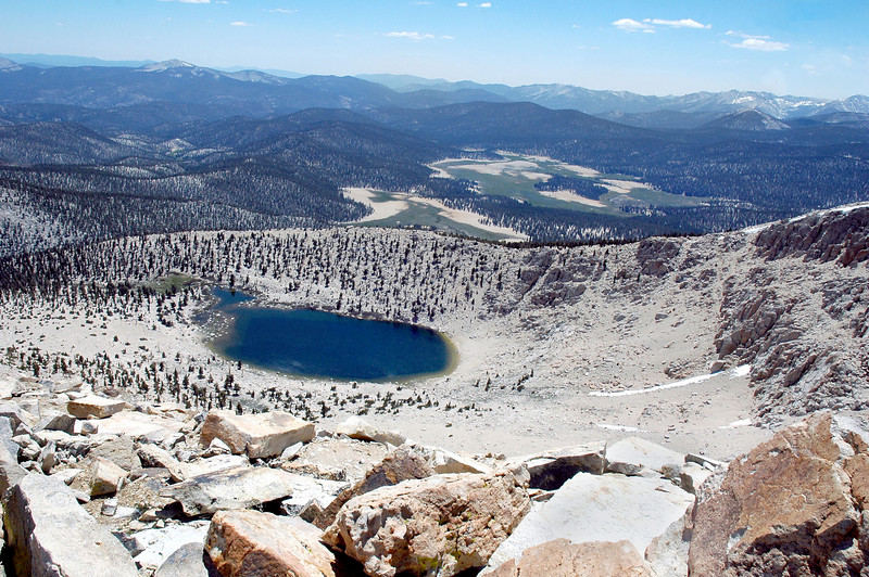 To the southwest, Chicken Spring Lake and Big Whitney Meadow.
