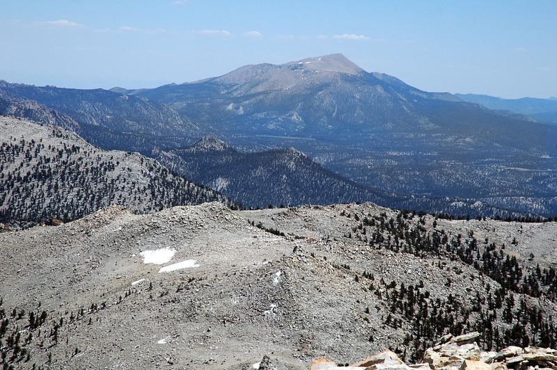 Zoomed in on Olancha Peak.