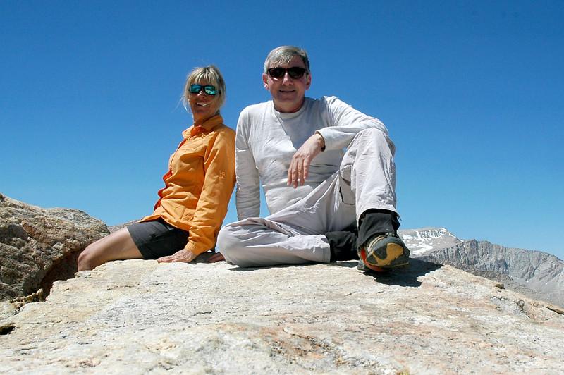 Sooz and me on Trailmaster Peak at about 12,400 feet.