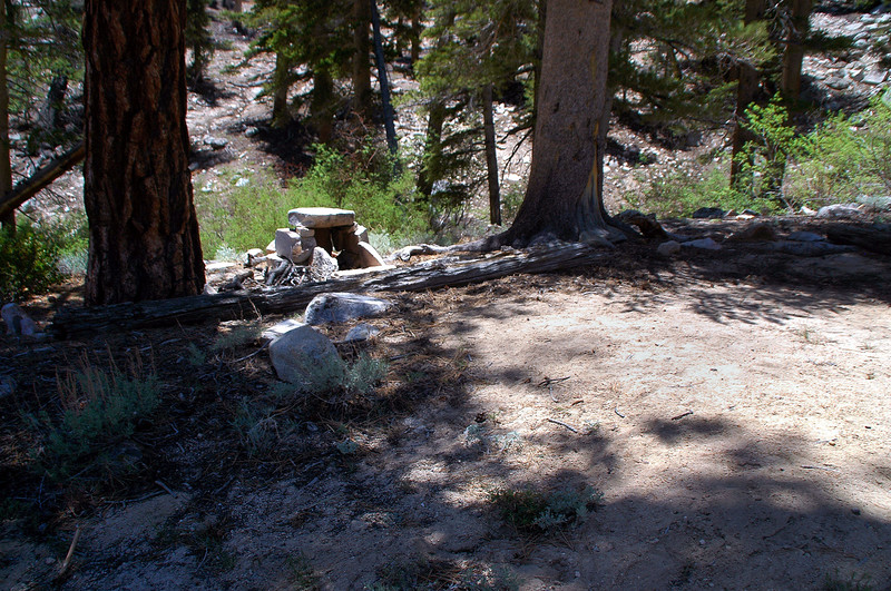 This camp site was at the bottom of the drainage we followed down to the trail.
