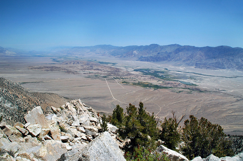 View to the notheast towards the Inyo Mountains.