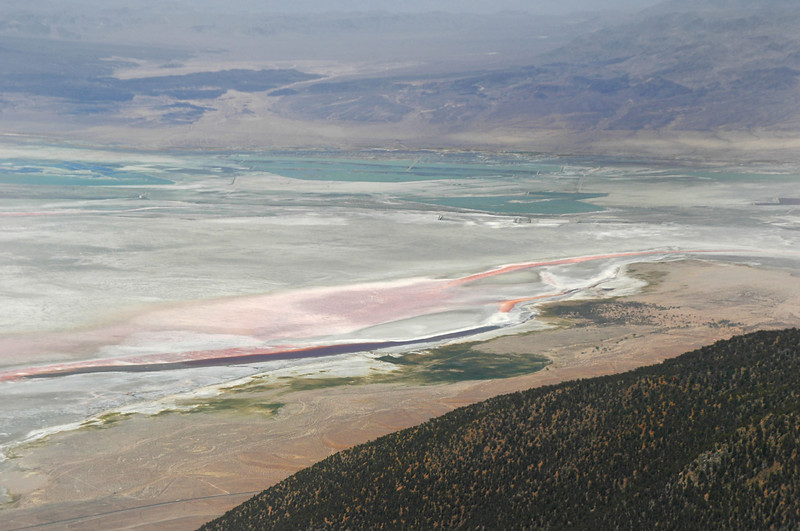 Zoomed in on Owens Lake, looks like there's a little more water than usual.