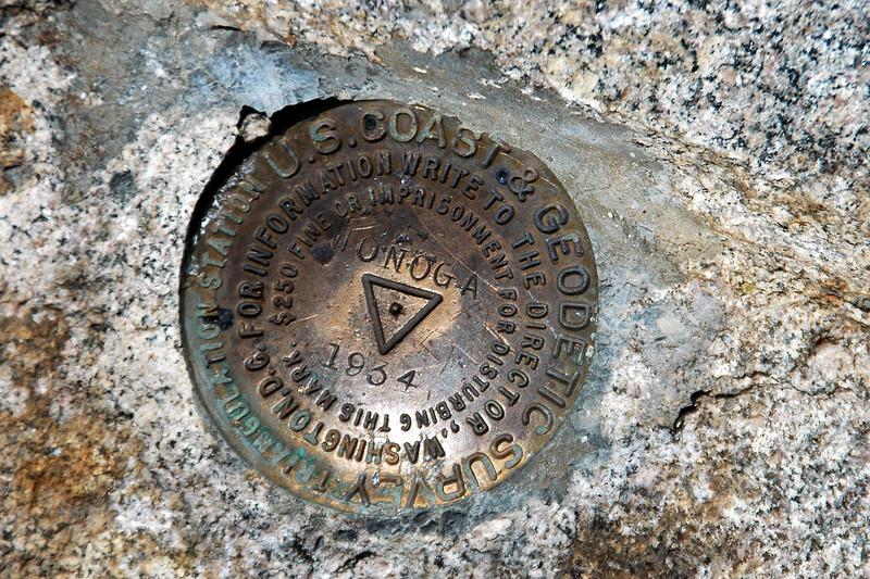 Summit marker.