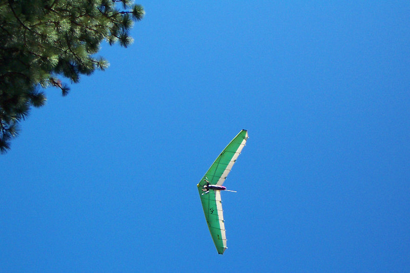 Another glider overhead.