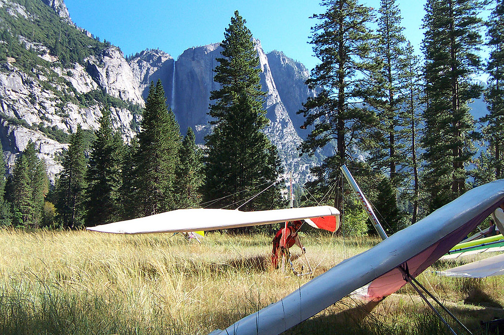 Another one down, over twenty of us flew this day. Good view of the upper Yosemite Falls.