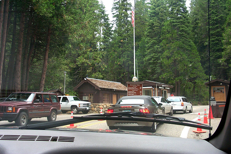 We arrived at the park's south entrance after about a five hour drive. I been to valley twice before, but this will be the first time hang gliding there. The plan was to meet a group of friends at the campground and fly off of Glacier Point Saturday and Sunday morning. Photo by Helen