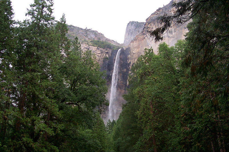 Bridalveil Falls from the parking lot.
