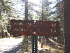 Old sign at the trailhead