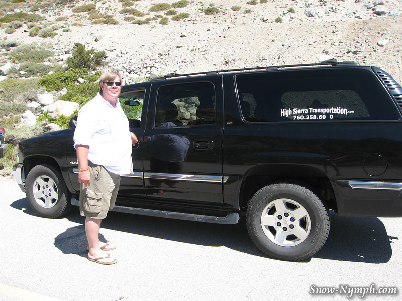 Blaine from High Sierra Transportation can get you to the trailhead. the missing number is 6060