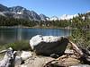 Heart Lake, Peak 12781, Peak 12744, Pyramid Pk (12,866'), Bear Creek Spire and Pipsqueak Spire.  Pyramid Peak is in our view the whole trip.