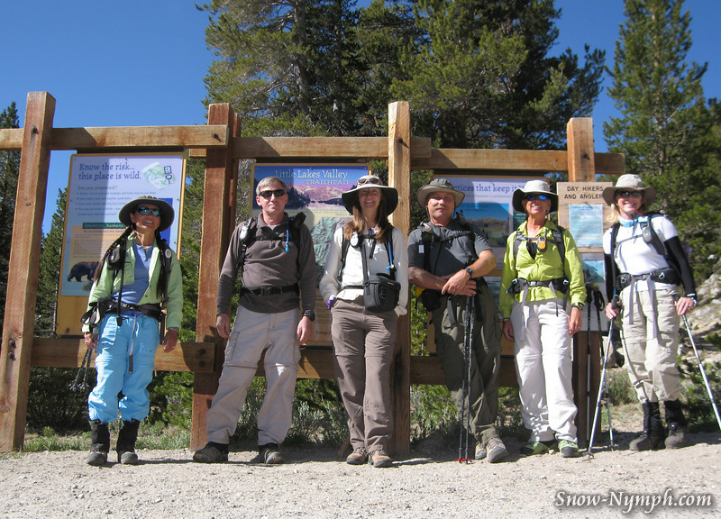 Snow Nymph, Mtflyer, Cat, Lewis, Trailtrekker, CinnamonGirl at Mosquito Flats (10,200')