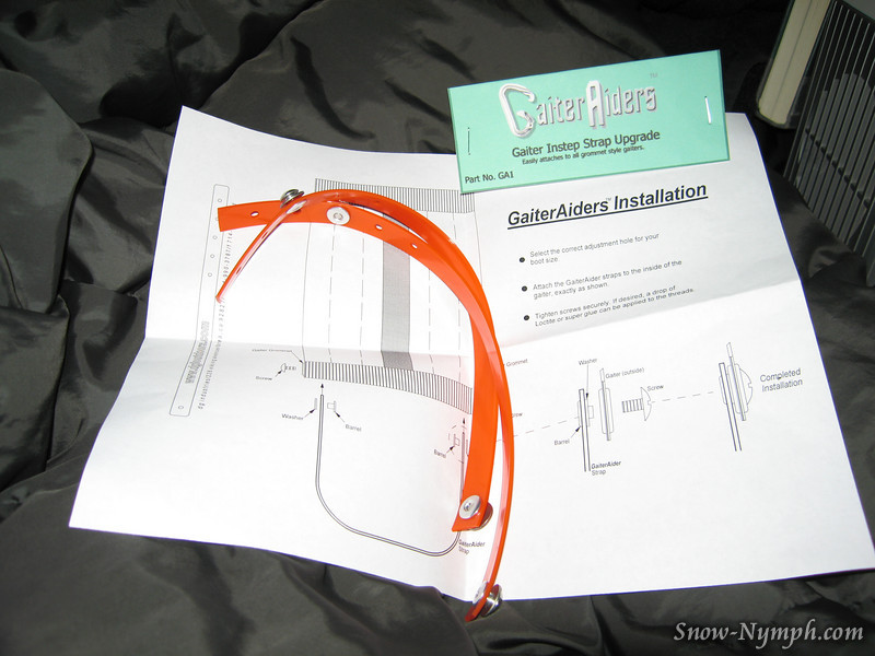 "DaveG's latest product - GaiterAiders, for those of us who can't keep the straps on (  <a href=""http://www.dgioutdoors.com"">http://www.dgioutdoors.com</a> )"
