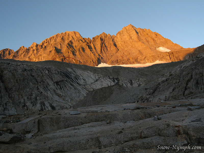 Morning view of Middle Pal (14,012').