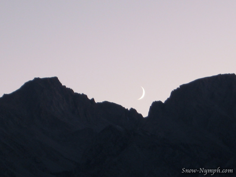 Driving up to Whitney Portal Fri night.  Mt Langley to the left