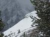 Skier on north face of Chocolate Peak