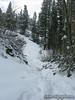 Snow on Bishop Pass trail