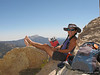 Spent 3 hrs on the summit . . . read a little, repaired gaitors and took a 55 min nap