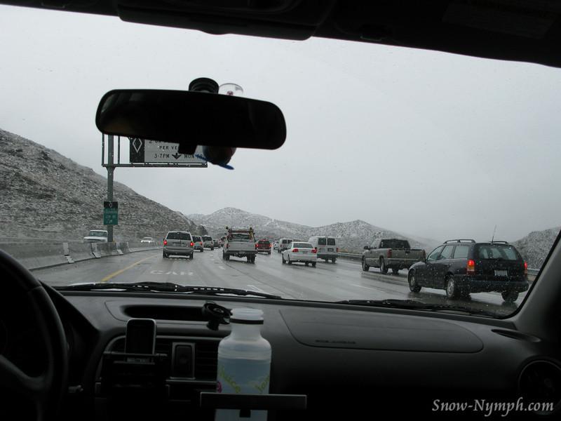Snow on Hwy 14