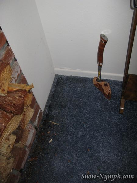Roof leakage on 2/20/09