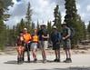 Snow Nymph, Nathan, Sparkles, Rockslide, Ridgeline, TomG at 9,660'