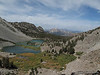 Barney Lake from the switchbacks, Mammoth Mountain in the middle