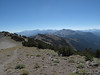 Looking back at Dead Man Pass and Mammoth Mountain