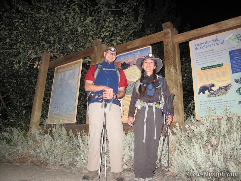 Rafael and Snow Nymph at McGee Pass TH (7,860')