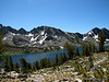 Duck Lake and Pika Lake from Duck Pass