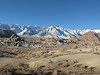 Alabama Hills is as far as I could drive.  Morning view from camp at Alabama Hills