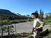 Sue, start of hike down the Tioga Pass Road to Mono Pass TH