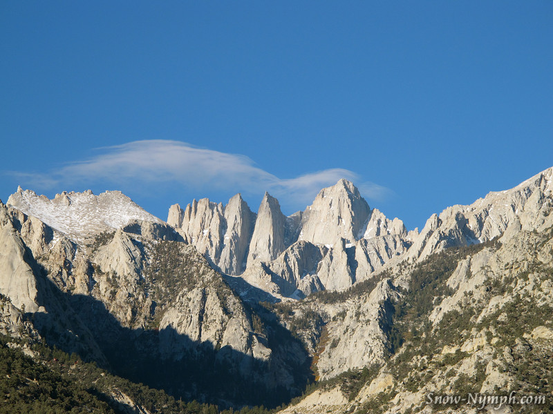 Lenticular clouds over Mt Whitney