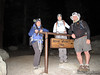 Cori, Steph and Roger at the Whitney Portal Trailhead (8,