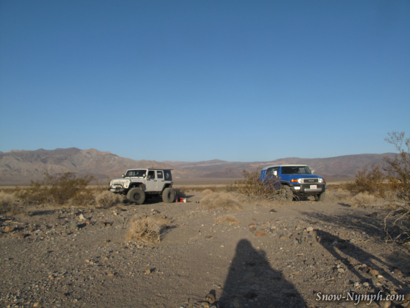 Camp in Panamint Valley