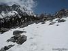 Snow below Gilbert Lake