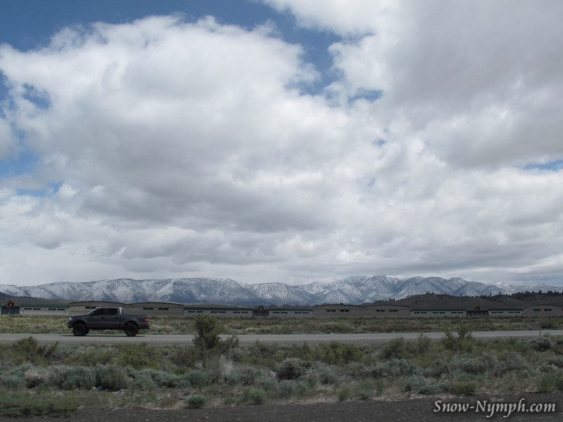 Snow on the Glass Mountains east of Hwy 395