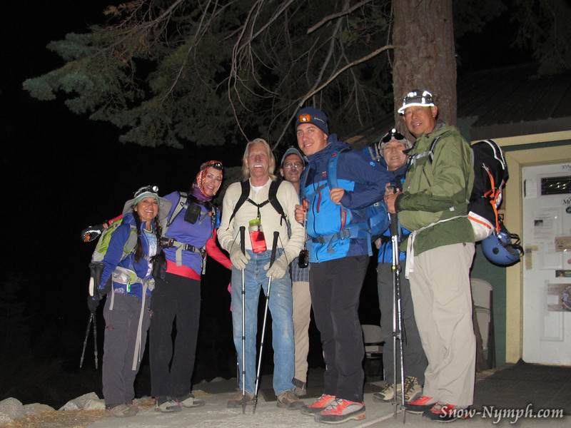 Cori, Tracie, DougSr, Cookie Mark, Charlie, Shin, Heng at Whitney Portal TH (~8,350')