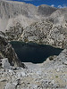 - Looking down at Ruby Lake from the chute I went up