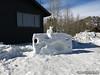 Snow Sculptures in town