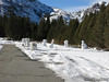 Snow Sculptures at June Lake Resort parking lot