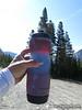 Tri colored frozen water bottle