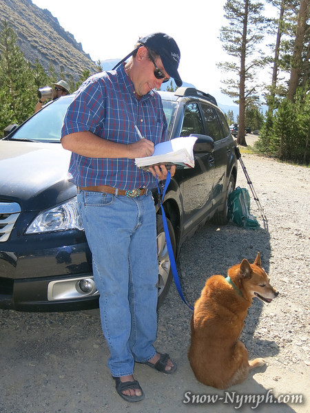 1)  Andy Zdon signing my Desert Summits book (with Koko)
