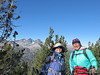 1 Cori and Izzy at Deadman Summit (windy, 46 deg)